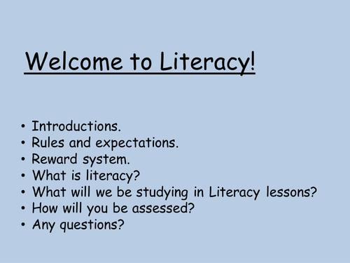 930 slides of literacy lessons