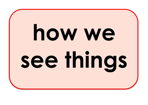 How we See Things - Games and Activities Supporting Scientific Vocabulary