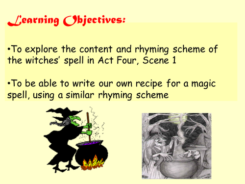 Macbeth - write your own spell