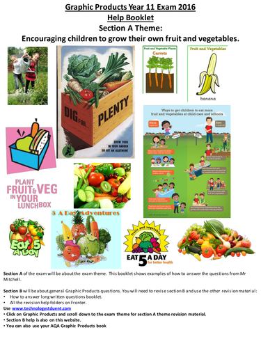 AQA GCSE Graphics MOCK Sec A: Encouraging children to grow their own fruit and vegetables