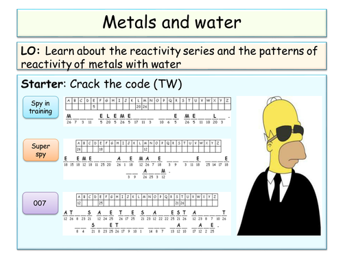 YEAR 8 - Metals topic SOW