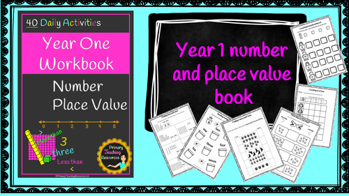 Year 1 Number Book (40 Daily maths activities, worksheets plus number loop games)