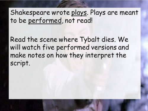 Romeo and Juliet: Tybalt's death