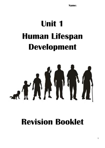 Unit 1 Human Lifespan Development Revision Pack by
