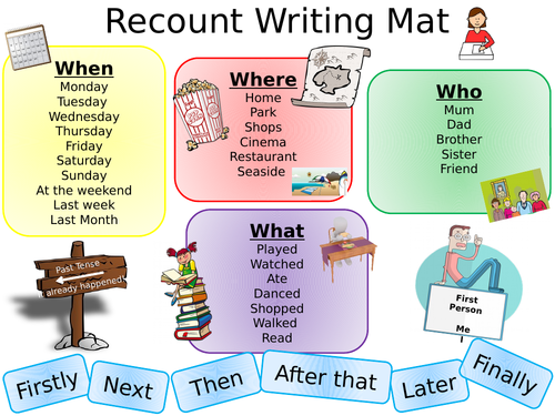 recount writing mat ks2 literacy by littlemissteacheruk teaching resources tes. Black Bedroom Furniture Sets. Home Design Ideas