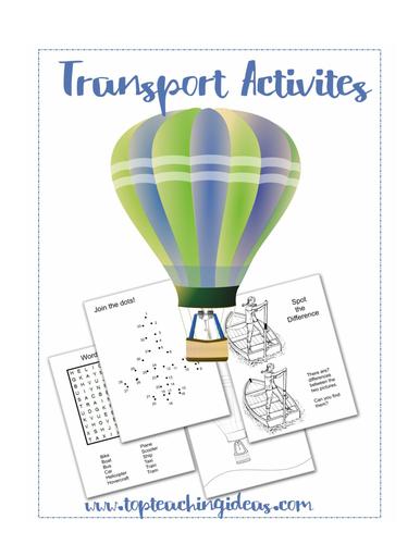 Transport Theme Activities