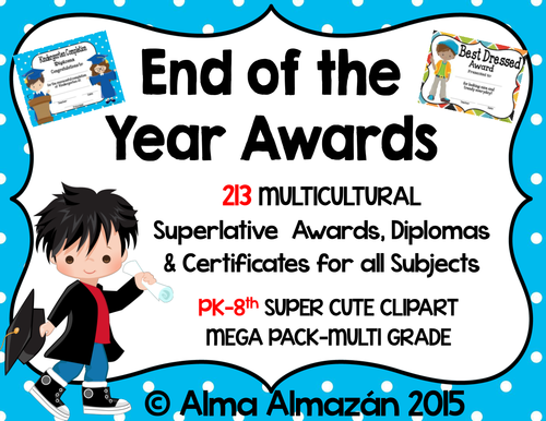 end of the year superlative awards certificates diplomas