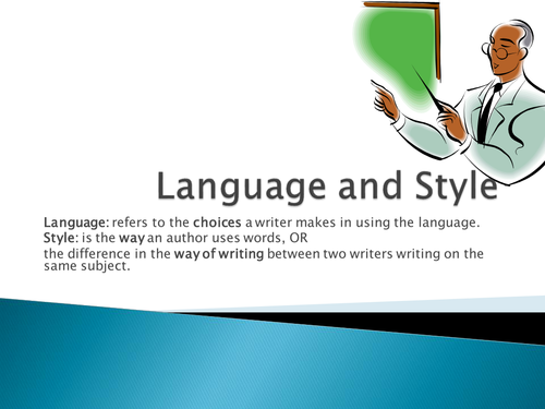Language and Style - Introduction to texts and the language in them