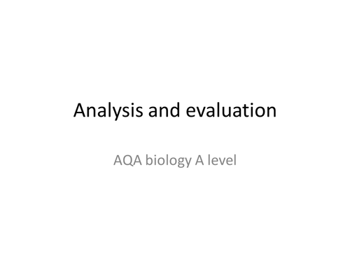 a2 level biology essay Introduction why choose aqa for as and a-level biology a choice of two essay questions giving students more opportunities to bring together knowledge.
