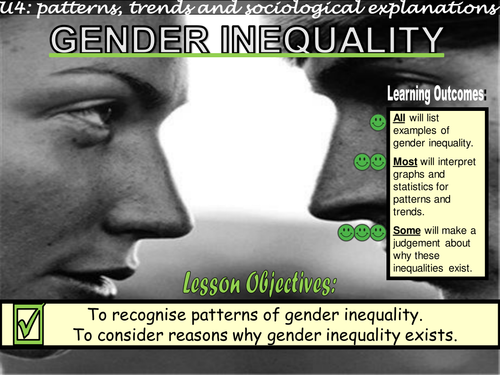gender inequality sociology Gender inequality, sex and gender, biological characteristics, social characteristics, gender roles, gender tracking, workplace, unequal earnings, harassment and violence, structural problem above mentioned are major points from this lecture notes.