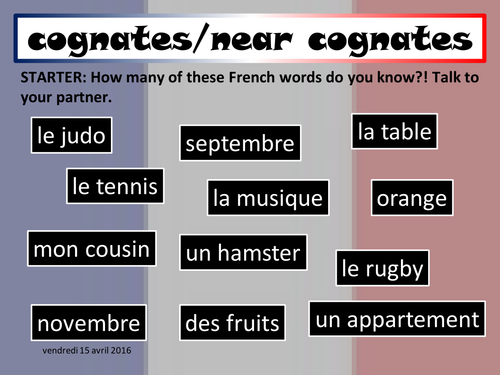 French Introductory Lesson