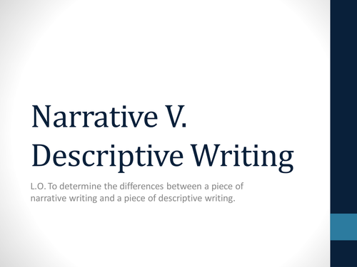 narrative vs descriptive writing what are the differences by