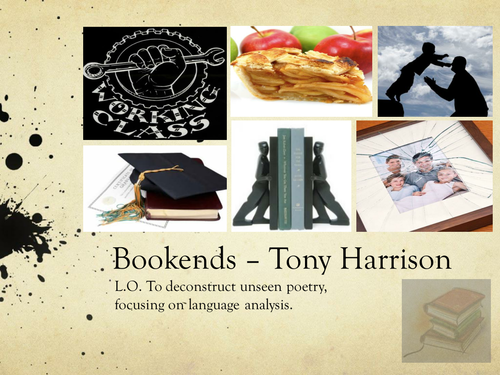 Poetry: Bookends, Tony Harrison