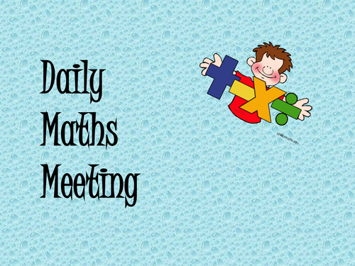 Daily Maths Meetings - Year 3 by Gurka - Teaching Resources - Tes