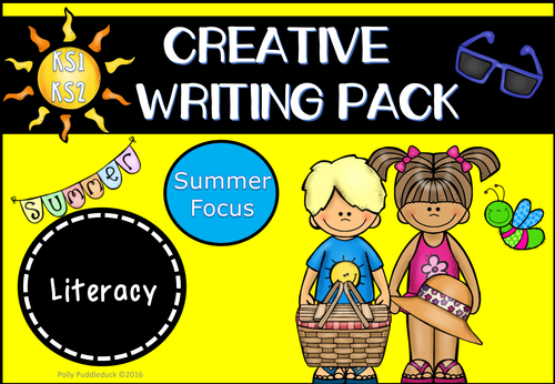 creative writing pack summer themed ks1 ks2 by pollypuddleduck