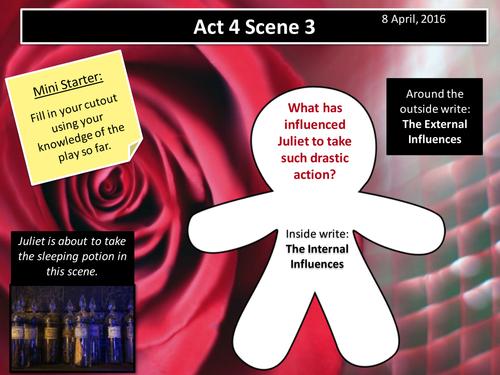 Romeo and Juliet - Scene 3 Help on essay?