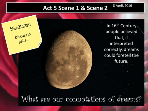 Romeo and Juliet Act 5 Scenes 1 & 2 (AQA New Spec 2017)