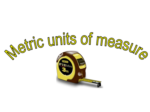 Converting one unit of metric measure to another