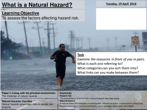 Natural Hazards and Risk