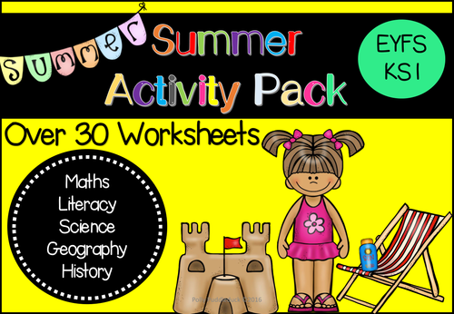 Summer Activity Worksheets Pack (Perfect for Revision- EYFS/KS1)