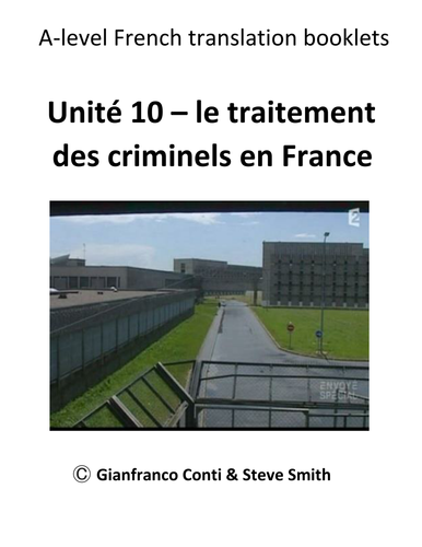 A-Level French Unit 11 How criminals are treated