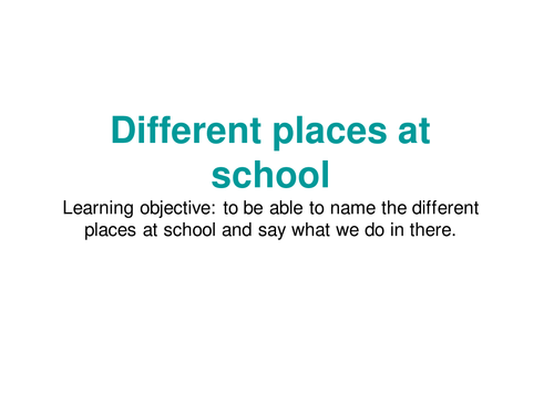School ( places at school+topics at school+ classroom objects)Key stage 2 French