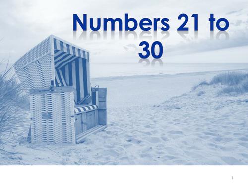 German Numbers 21 to 99
