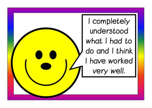 Self assessment posters - smiley faces