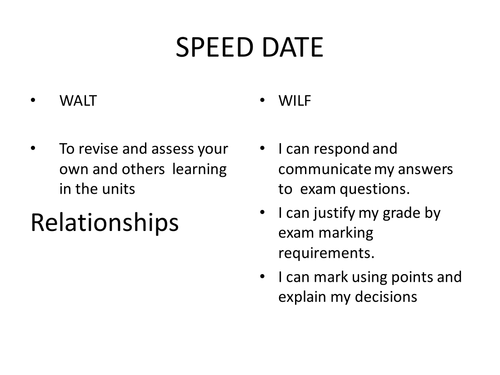 speed dating picture