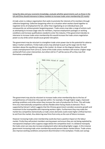 Unit 3 AQA Model Answer