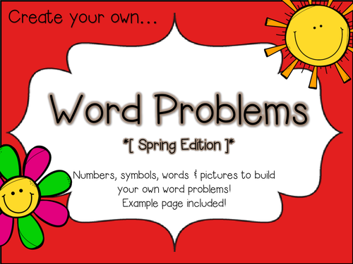 Create Your Own Multiplication Worksheets : Creating word problems by beaglemad uk teaching