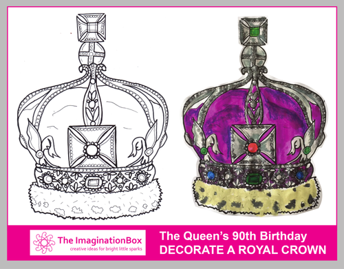 Decorate this Royal Crown, and celebrate Queen Elizabeth's 90th birthday