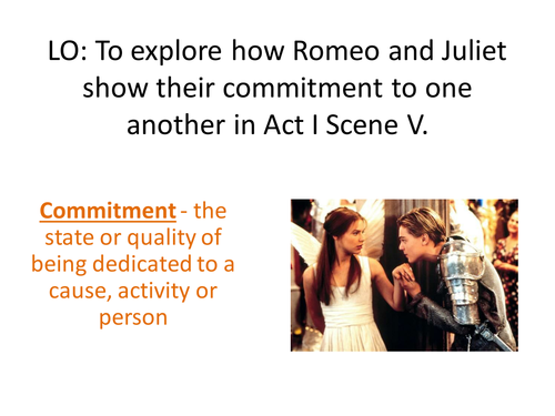 Romeo and Juliet - Act I Scene V