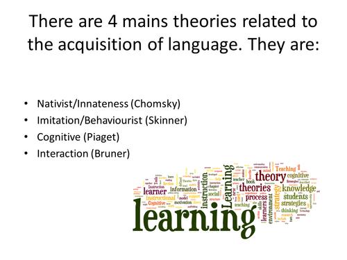 A Level Developing Language- Child Language Acquisition extensive revision pack.