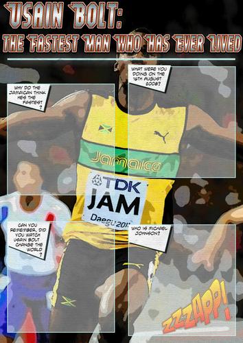 PE Athletics Cover work - Usain Bolt - The Fastest Man Who Has Ever Lived Cover