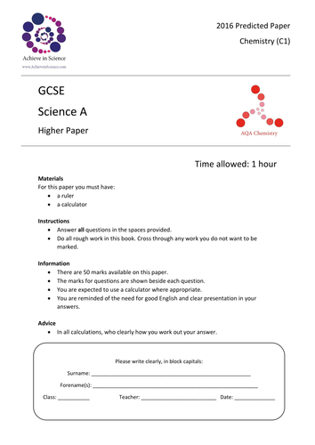 predicted gcse 2014 questions aqa mathematics