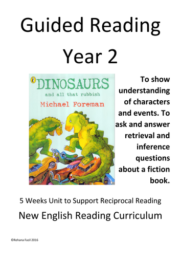 Guided Reading Year 2 Dinosaurs and all that Rubbish