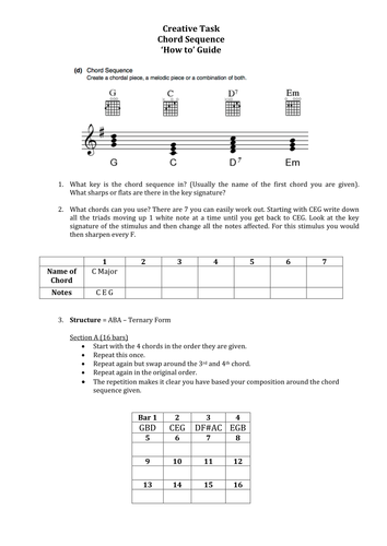 OCR GCSE Music Creative Task - Student 'How to' Guides - Stimuli 3