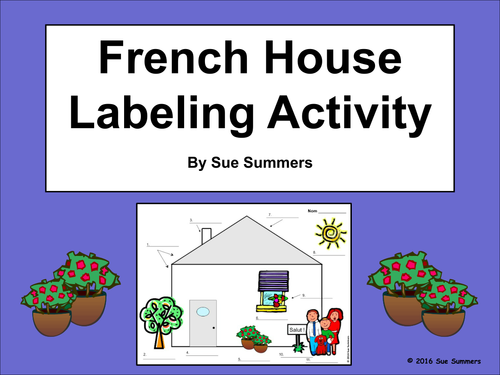French house exterior diagram and labeling activity la for A la maison french