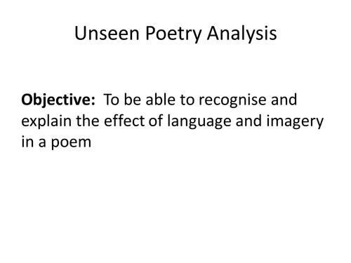 Poetry analysis (pre -1914) Hardy - The Darkling Thrush