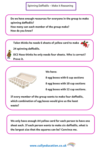 St David's Day Numerical Reasoning and Challenge Area