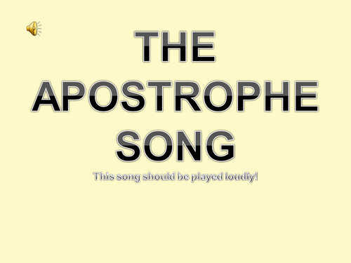 The Apostrophe Song