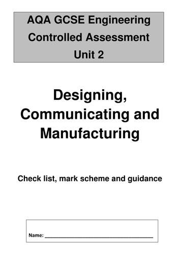 AQA GCSE Engineering (old spec): checklist, grade descriptors and easy to follow assessment criteria