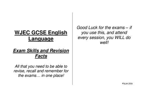 WJEC English Language Revision Cards