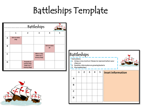 Revision Battle Ships Template