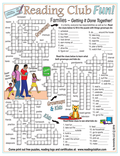 Family Responsibilities Crossword Puzzle