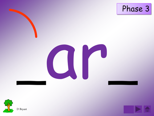 Phase 3: 'ar' sound [as in farm, card]: table/group cards, activities and presentation