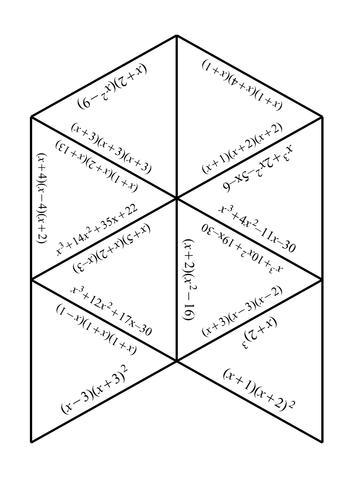 Multiplying Triple Brackets Jigsaw : NEW GCSE Mathematics