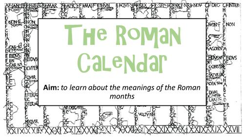 KS2: The Roman Calendar Pack