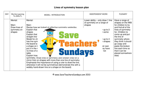 line of symmetry ks1 worksheets lesson plans powerpoint and plenary by saveteacherssundays teaching resources tes